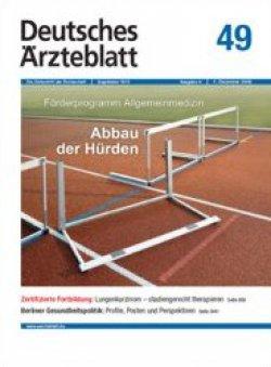Deutsches Ärzteblatt 49/2009