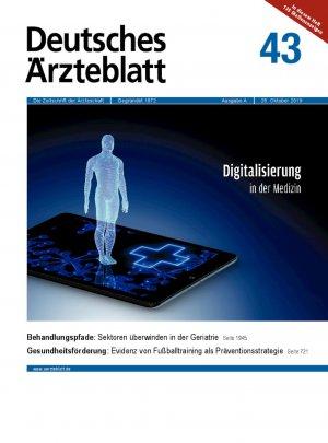 Deutsches Ärzteblatt 43/2019