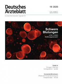 Deutsches Ärzteblatt 18/2020