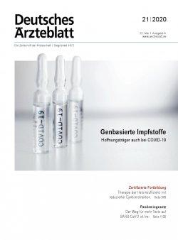 Deutsches Ärzteblatt 21/2020