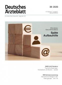 Deutsches Ärzteblatt 38/2020