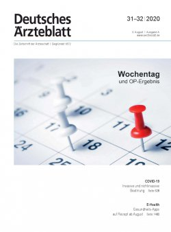 Deutsches Ärzteblatt 31-32/2020