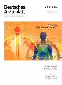 Deutsches Ärzteblatt 33-34/2020