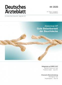 Deutsches Ärzteblatt 44/2020