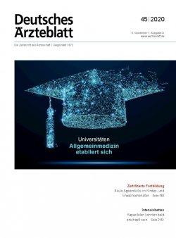 Deutsches Ärzteblatt 45/2020