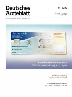 Deutsches Ärzteblatt 41/2020