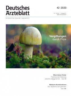 Deutsches Ärzteblatt 42/2020