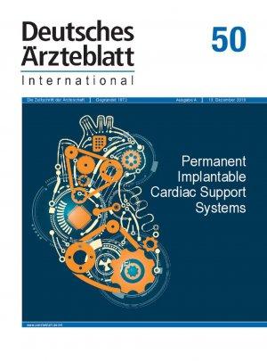 Dtsch Arztebl Int 2019; 116(50)
