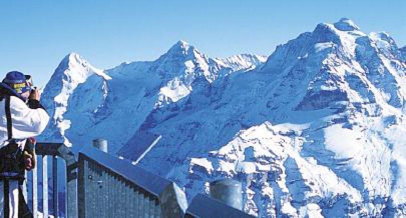 Blick auf Eiger, Mönch und Jungfrau. Foto: Renate V. Scheiper