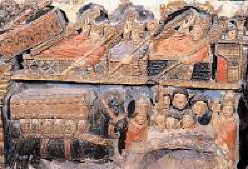 Eindrucksvolles Zeugnis mittelalterlicher Kunst: der Sarg des Bischofs San Pedro de Osma