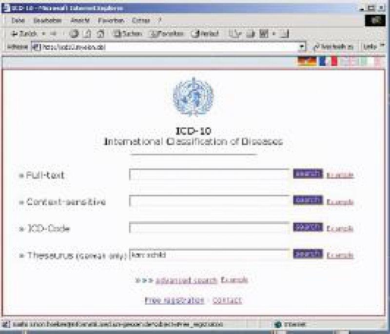 Abbildung 1: ICD- 10-Suchformular