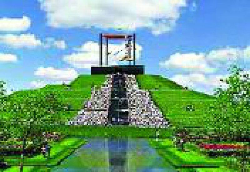 Der Big Spotters' Hill, ein künstlicher Hügel, bietet fantastische Rundblicke.