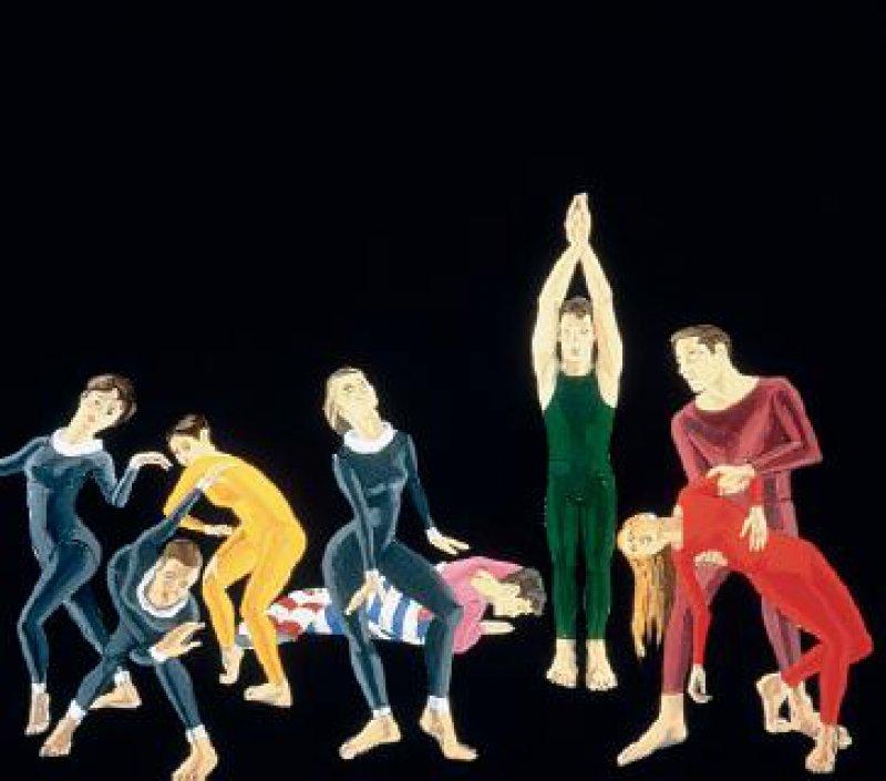 "Alex Katz: ""Paul Taylor Dance Company"", 1963/64, Öl auf Leinwand, 213 x 244 cm Foto: Bundeskunsthalle"