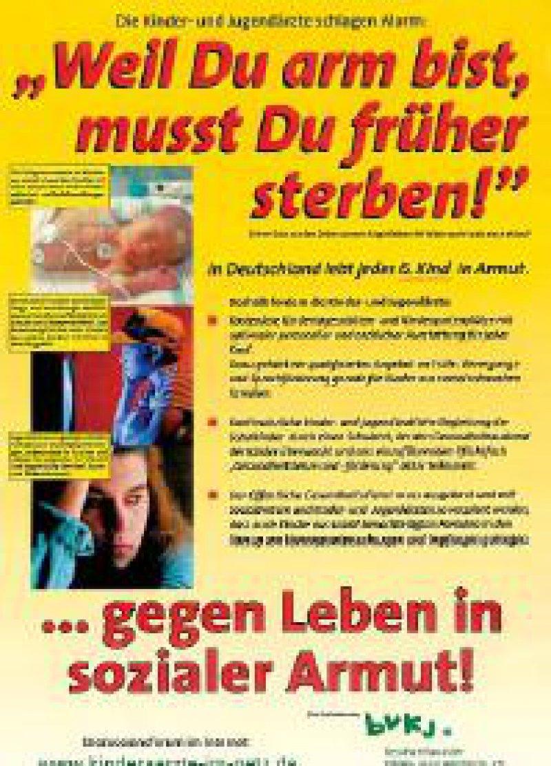 Plakataktion des Berufsverbandes der Kinderund Jugendärzte, vorgestellt in Würzburg