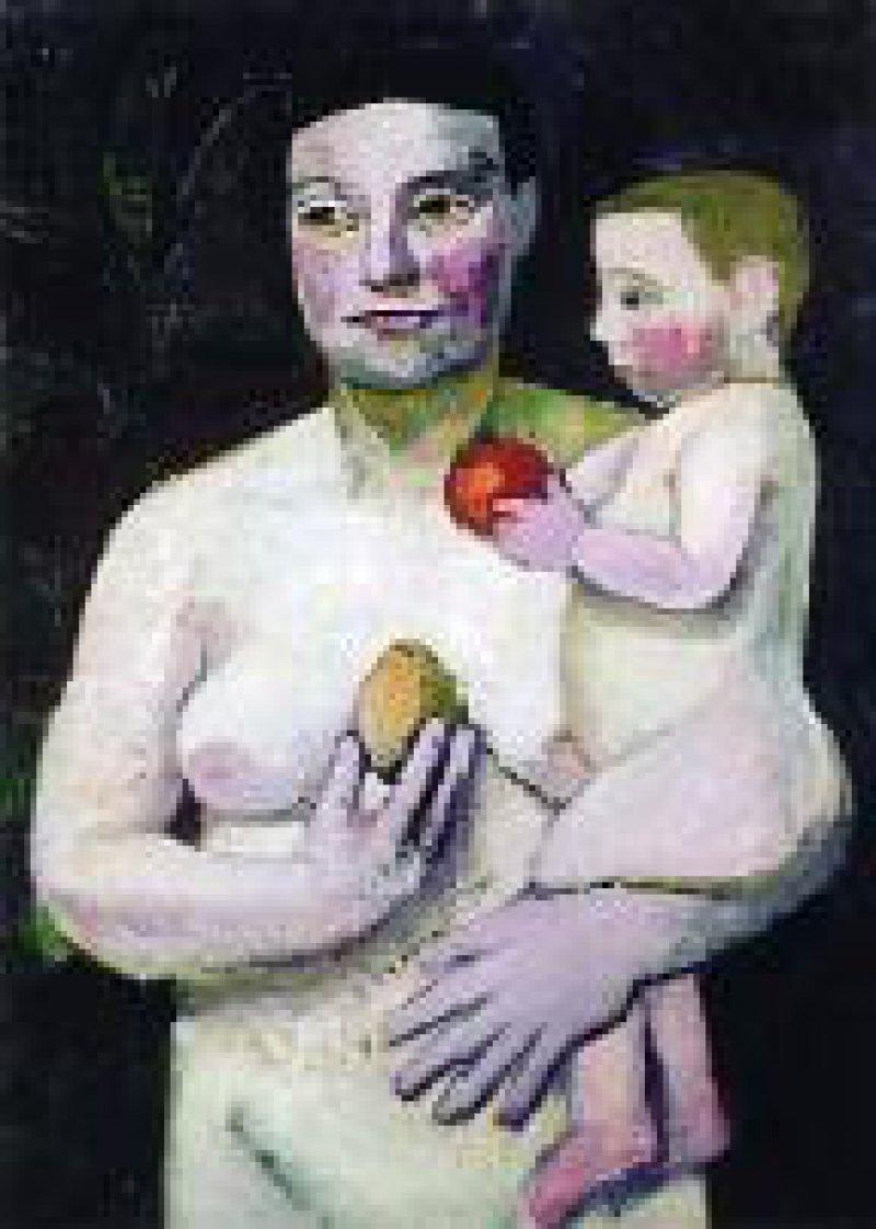 Paula Modersohn-Becker: Mutter und Kind (1907), Öl auf Leinwand, Museum am Ostwall Dortmund