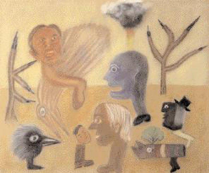 """""""ohne Titel"""", Pastellkreide auf Velourspapier, 38 x 46 cm"""