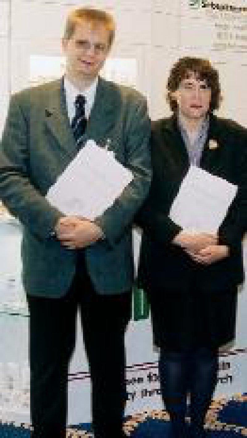 Harald Löffler und Susanne Grether-Beck bei der Heinz-Maurer- Preisverleihung Foto: privat