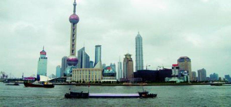 """Boom Town"" Shanghai mit Blick auf Pudong Fotos: Hans-Peter Sick"