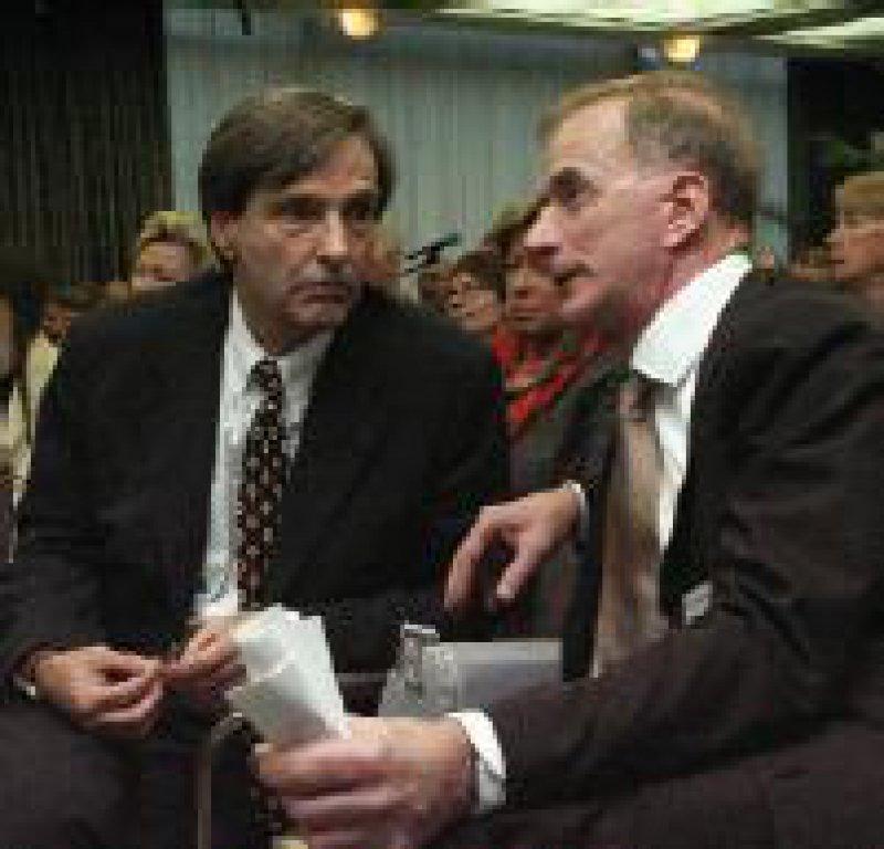 Sorgen um die Zukunft der Fachärzte: Axel Munte (l.) und Michael Hammer, die Organisatoren des Fachärztetages Foto: Johannes Aevermann