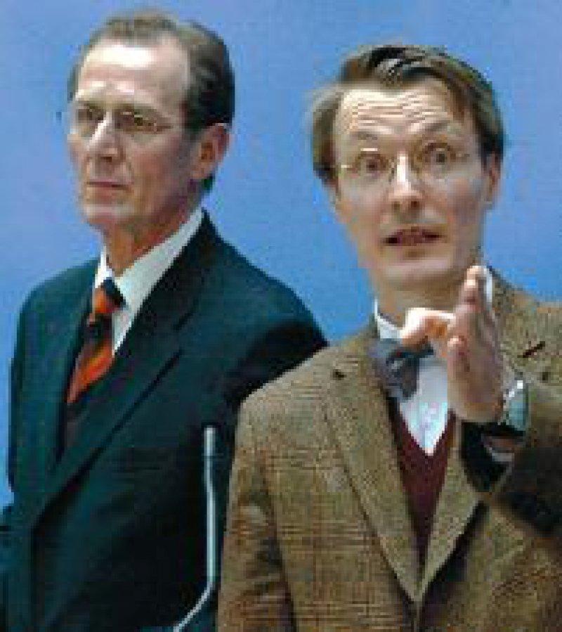 """Verständigten sich auf ein """"Y-Modell"""": Prof. Dr. Bert Rürup (links) und Prof. Dr. Dr. Karl Lauterbach Foto: ddp"""