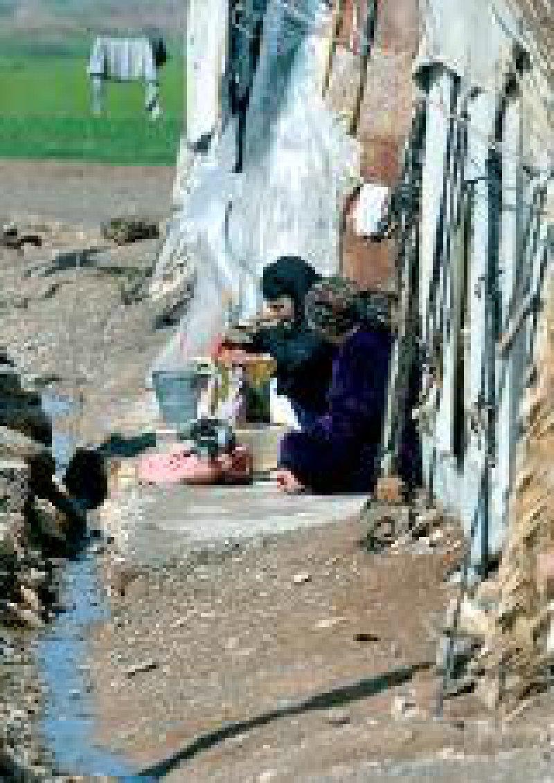 Kurdische Flüchtlingsfrauen im Lager Takia im Nordirak Foto: AFP