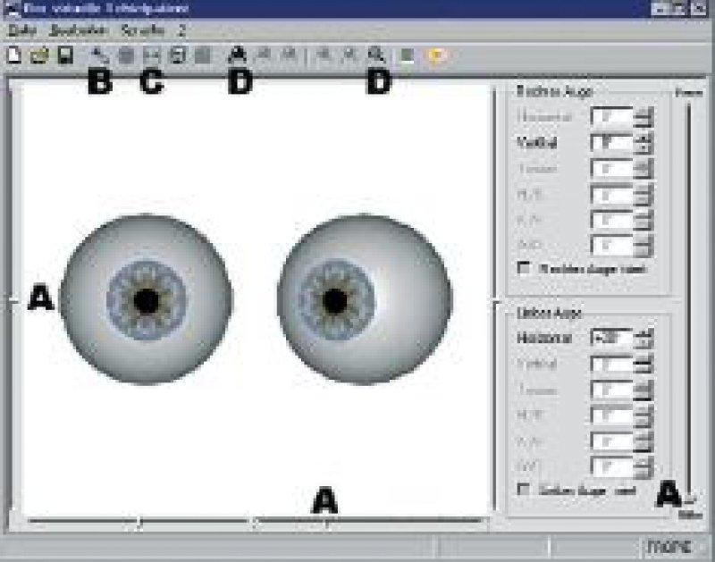 Screenshot der Hauptoberfläche des Simulationsprogramms mit den Steuerungselementen
