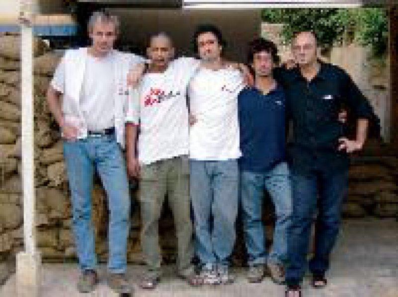 Morten Rostrup (l.) und sein Team in Bagdad Foto: Ärzte ohne Grenzen
