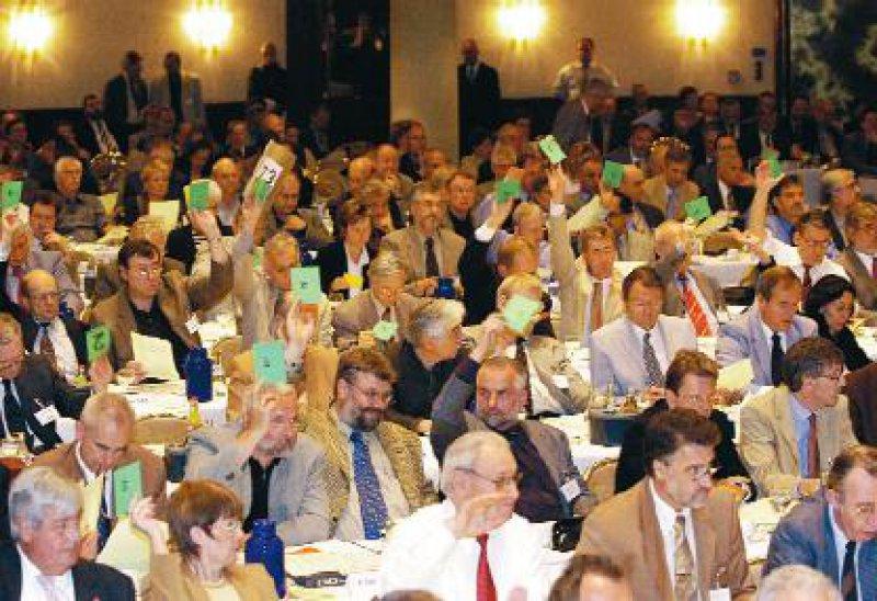 Die Delegierten stimmten über eine Reihe von Anträgen zur Gesundheitspolitik ab.