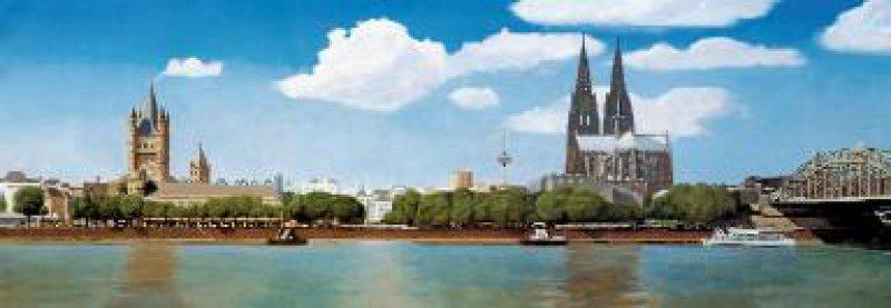 Die Kölner Periode der Ärzteschaft neigt sich nach fünfzig Jahren dem Ende zu – sangund klanglos. Im nächsten Jahr beginnt die Berliner Zeit. Das Bild malte Jürgen Sieger mit der linken Hand, nachdem er rechtsseitig durch einen Schlaganfall gelähmt war.