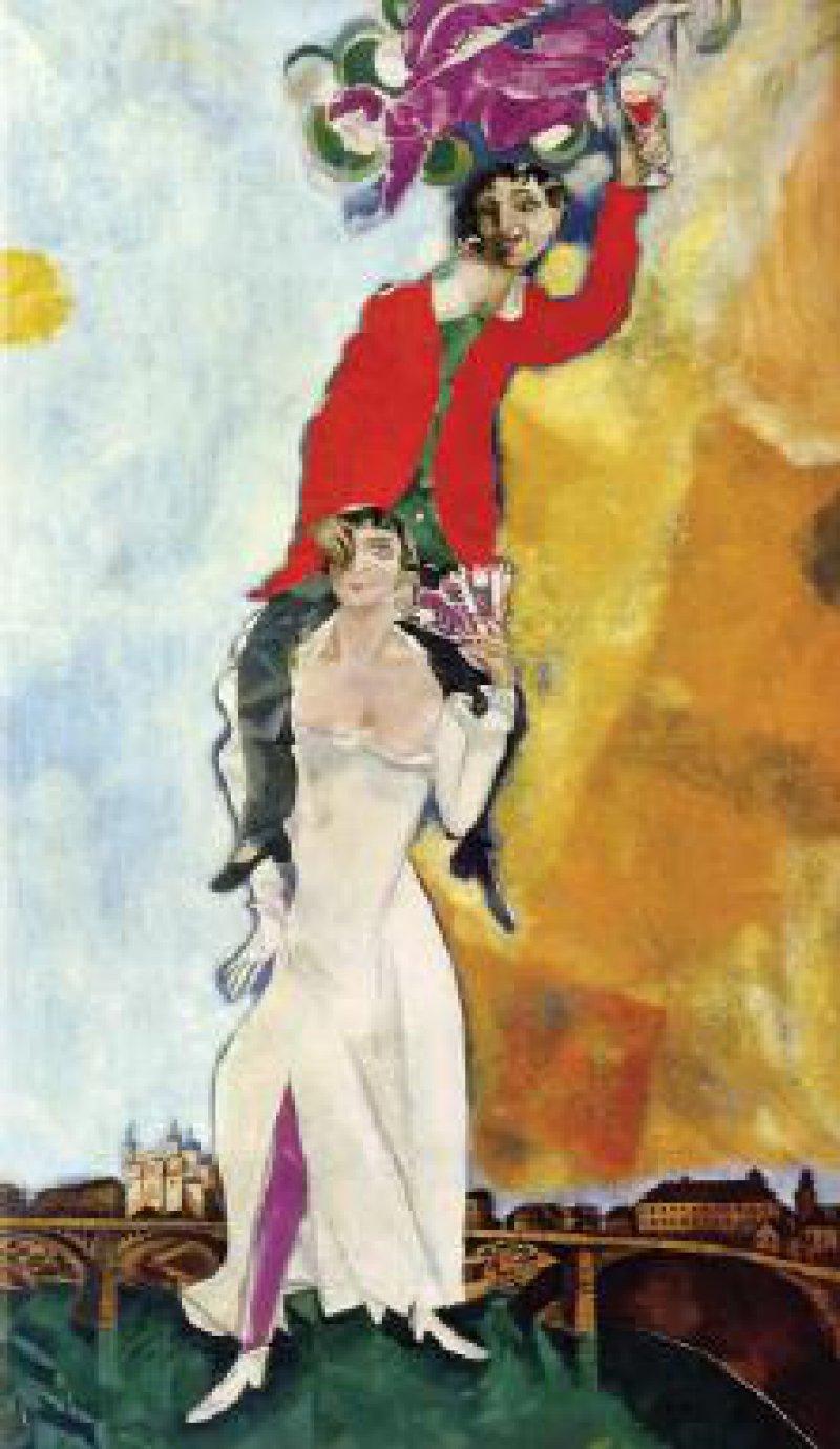 Marc Chagall, Doppelporträt mit Weinglas, 1917–1918 Fotos:VG Bild-Kunst, Bonn