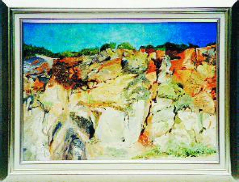 """""""Sandwände an der Algarve"""", Öl, 50 × 70 cm"""