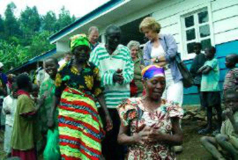 Im Mai dieses Jahres besuchte die Vorsitzende der Deutschen Welthungerhilfe, Ingeborg Schäuble, den Kongo. Foto: DWHH
