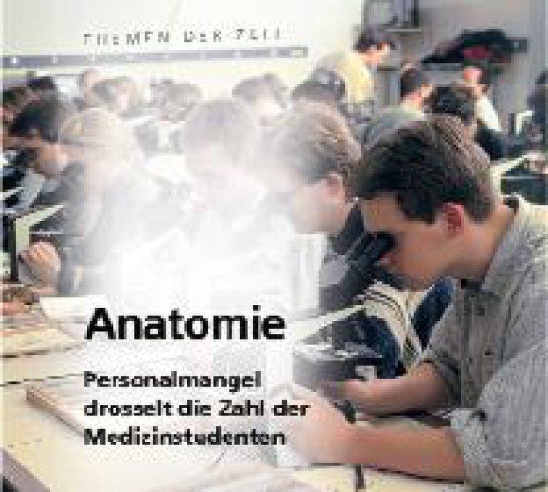 Personalmangel in Anatomischen Instituten war das Titelthema in Heft 24/2003.