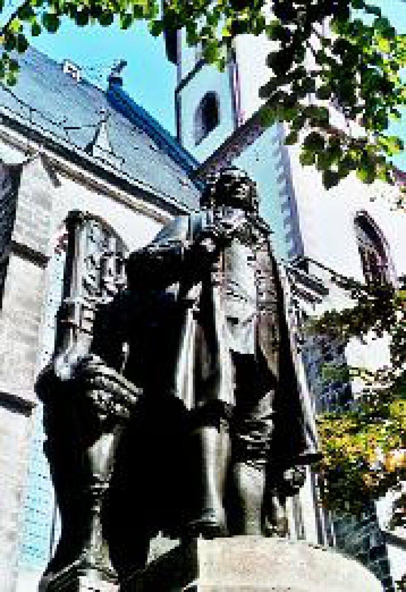 Bach-Denkmal neben der Thomaskirche. Fotos: Ursula Wiegand