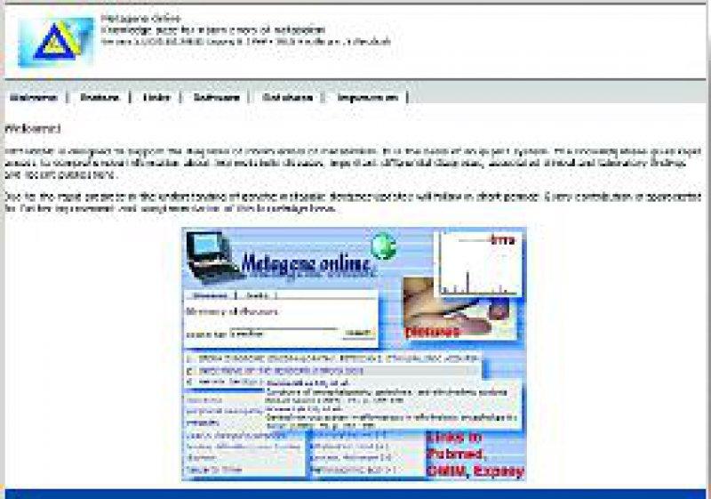 Abbildung 1: Das Portal zur Web-Datenbank