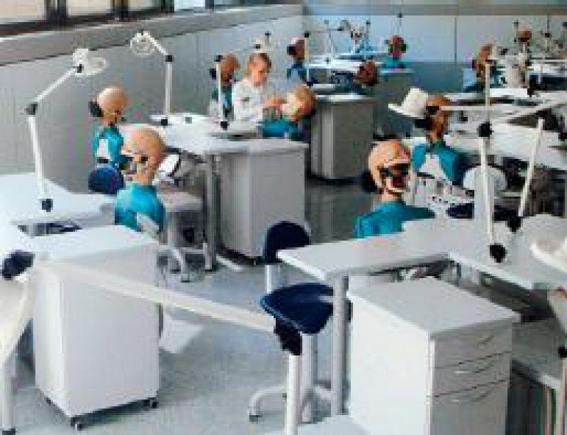 Verwaiste Labors, leere Hörsäle als Folge drastischen Personalabbaus: Dies droht nach Ansicht von Experten dem Lehrstuhl für Präventive Zahnheilkunde der Universität Jena. Foto: Norbert Krämer