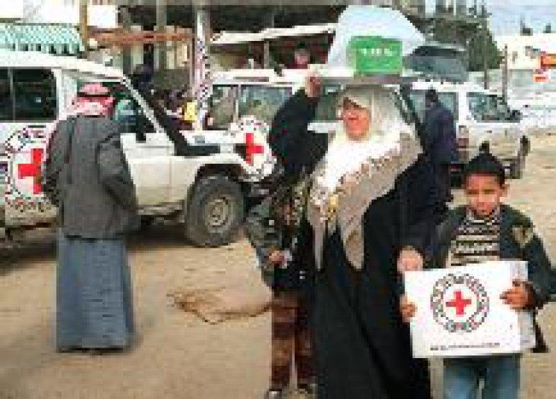Humanitäre Hilfe leistet der palästinensischen Bevölkerung unter anderem das Internationale Komitee vom Roten Kreuz. Foto: dpa