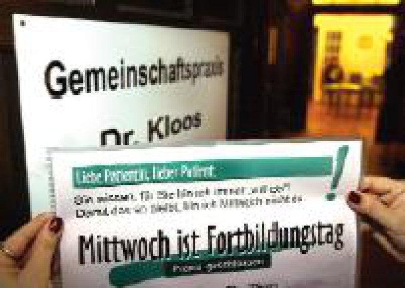 Der Hartmannbund hatte Ende Januar in Westfalen-Lippe dazu aufgerufen, aus Protest gegen die Gesundheitspolitik mittwochs keine Sprechstunde abzuhalten. Foto: dpa