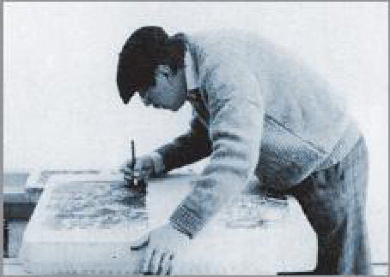 Günter Grass am Lithostein