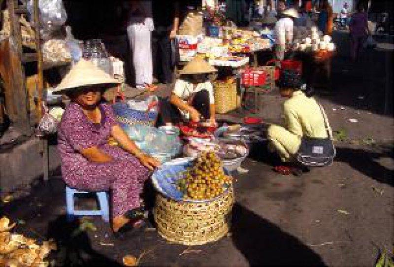 Gemüsemarkt in Saigon