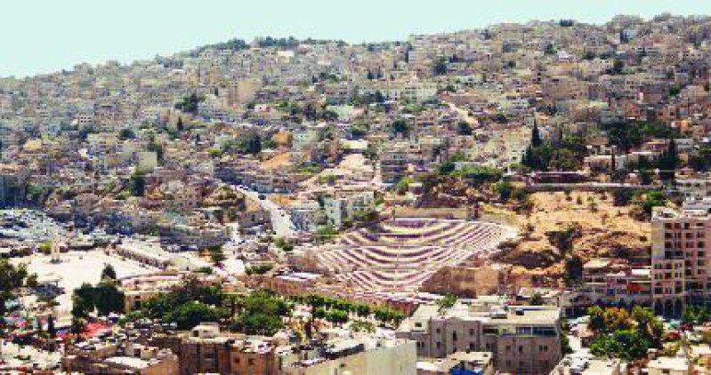 Amman: Blick vom Zitadellenhügel auf die Altstadt mit römischem Amphitheater Fotos (2): Harald Clade