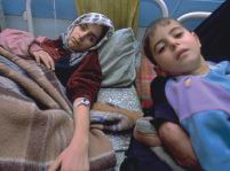 Die Kinder werden im Al-Alwiyah-Krankenhaus in Bagdad behandelt. Foto: Unicef