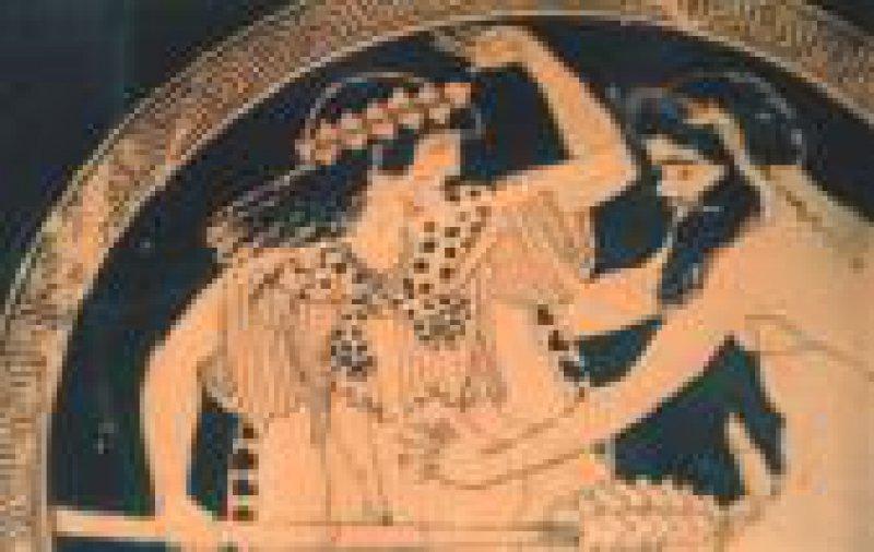 Abbildung 4: Silen und Mänade. Attischer Makron, 480 v. Chr., Staatliche Antikensammlung München