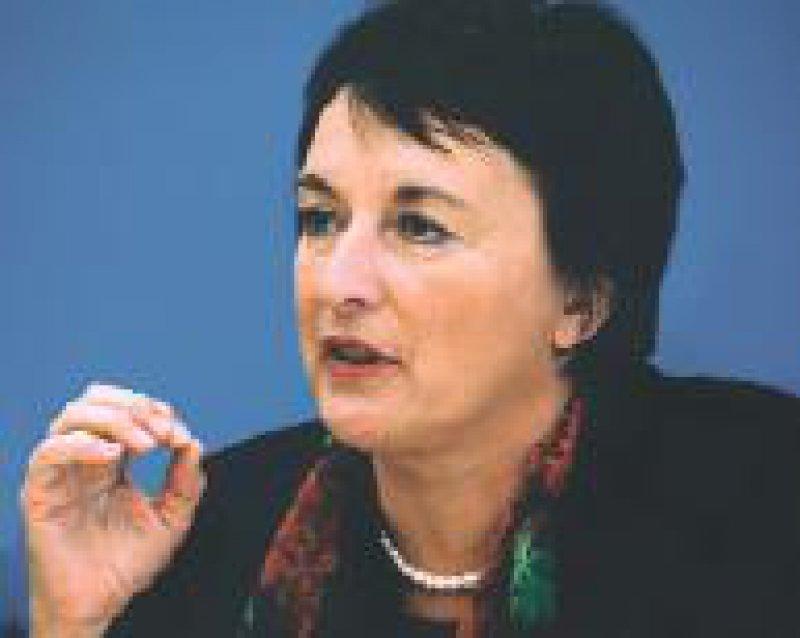 Bundesjustizministerin Brigitte Zypries: Erstmals eine einheitliche deutsche Patientencharta Foto: dpa