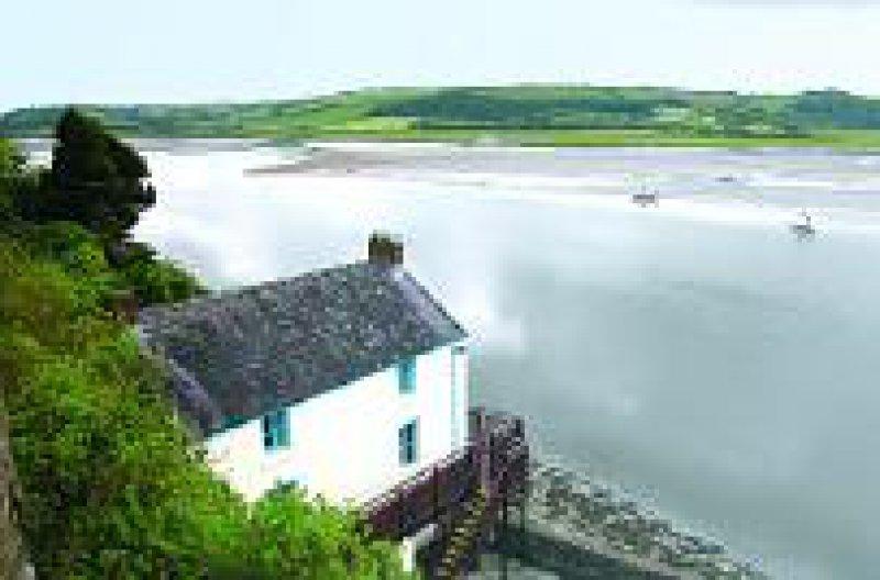 """Der Wallfahrtsort für Literaturliebhaber: das """"Bootshaus"""" des walisischen Dichters Dylan Thomas bei Laughharne"""