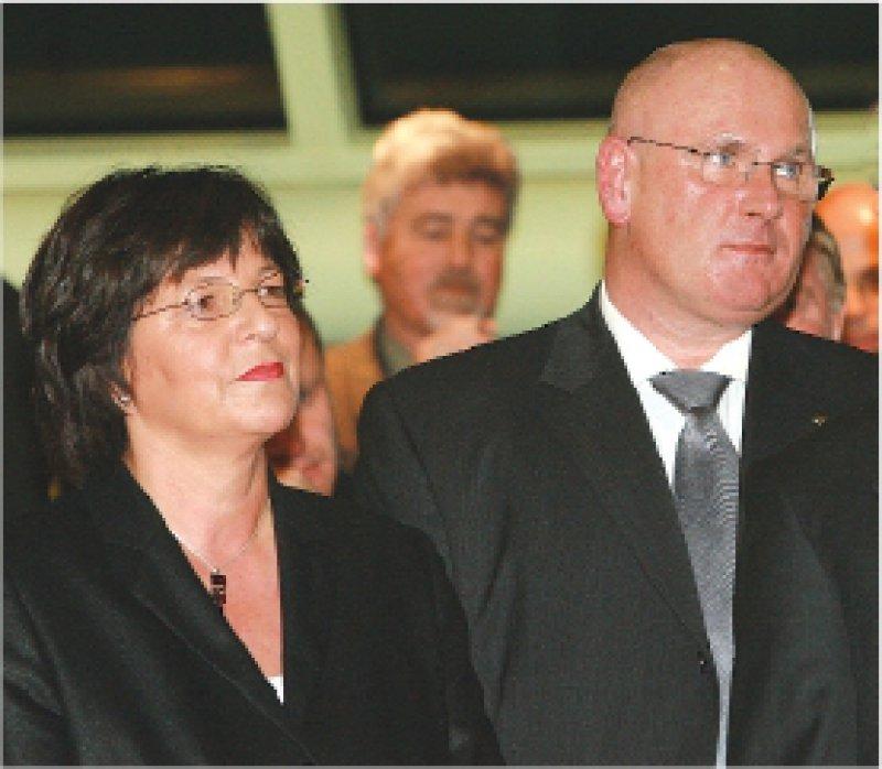 Seite an Seite, aber nicht immer einer Meinung: Bundesgesundheitsministerin Ulla Schmidt und KBV-Chef Andreas Köhler. Foto: Georg J. Lopata