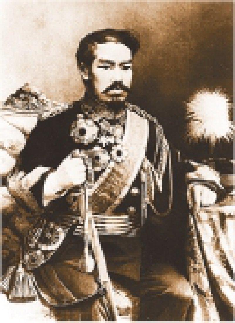 Gottkaiser Mijio verlegte 1868 den Thron von Kyoto nach Tokio.