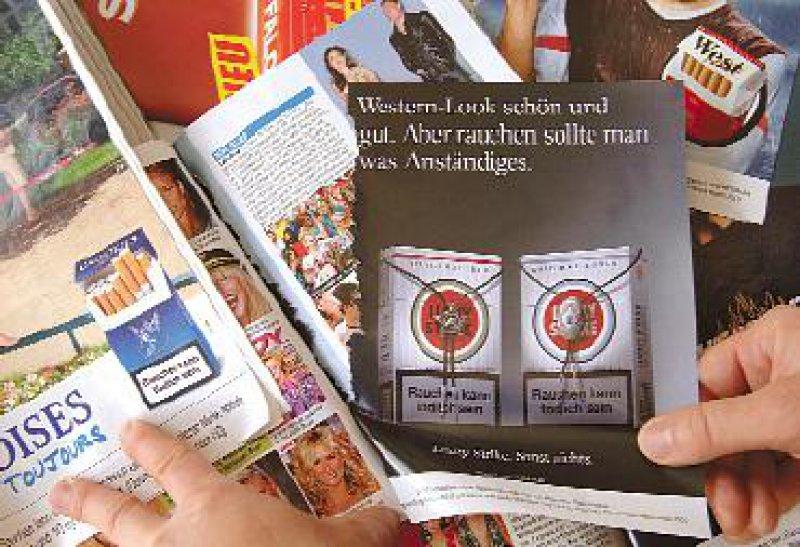 Noch wird in deutschen Zeitschriften für Tabak geworben. Foto: picture-alliance