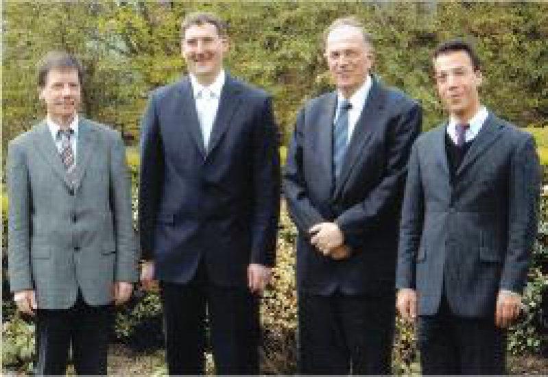 Reinhard Jahn, Markus F. Neurath, Dietrich Niethammer, Jan Wehkamp (von links) Foto: privat