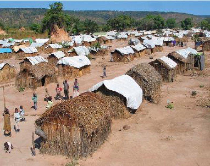 Vertriebenenlager bei Dubie